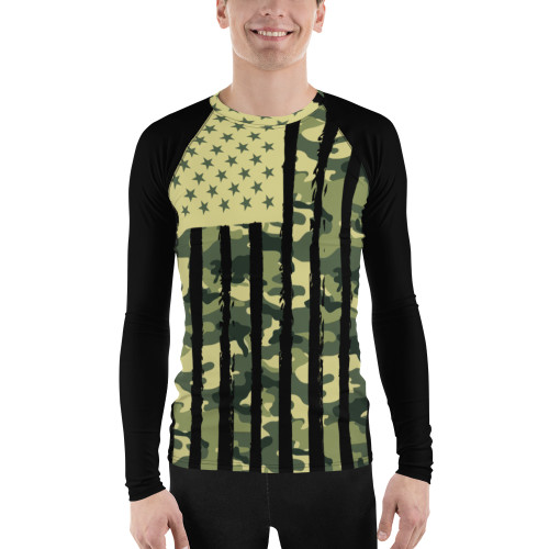 U.S. Flag Cammo Men's Rash Guard