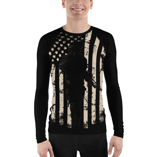 U.S. Flag Patriot Men's Rash Guard