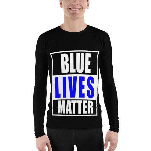 Blue Lives Matter Men's Rash Guard