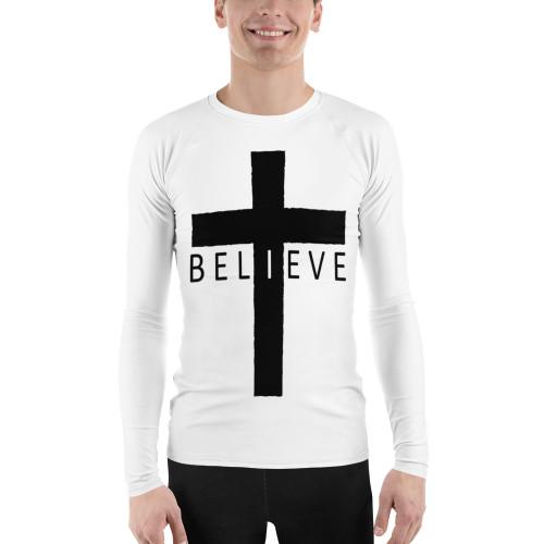Believe Cross Men's Rash Guard