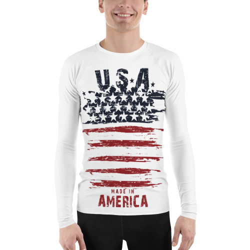 USA Made in America Men's Rash Guard