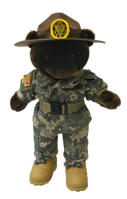 Army Drill Instructor Army Combat Uniform (ACU) Male - Mini Bear