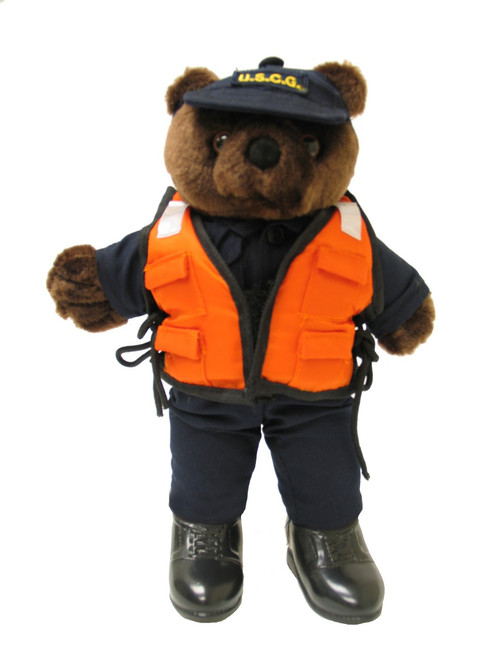 Coast Guard Bear w/ Life Vest - Mini Bear
