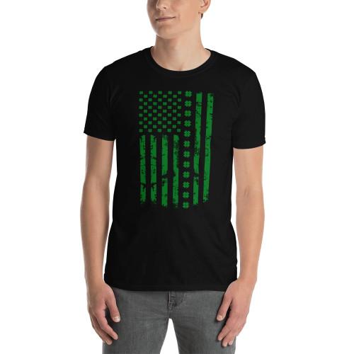 USA Flag (Saint Patrick's Day) Short-Sleeve Unisex T-Shirt