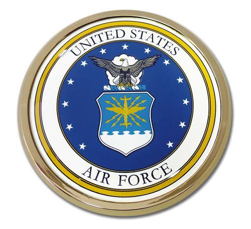 Air Force Chrome Auto Emblem (Seal)