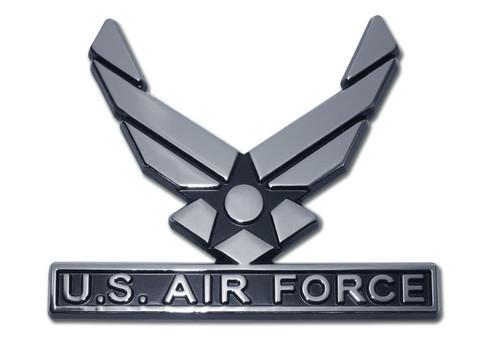 Air Force Chrome Auto Emblem (Wings)