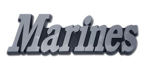 "Marine ""MARINES"" Chrome Auto Emblem"