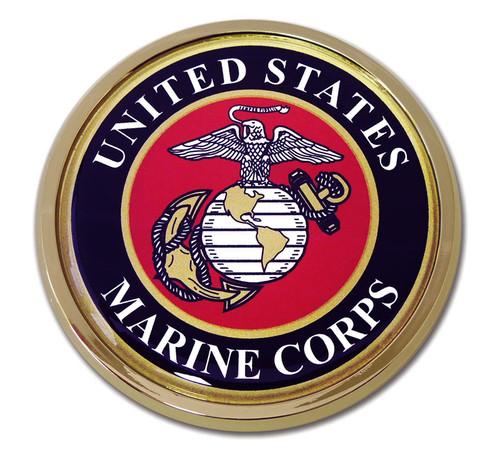 Marine Chrome Auto Emblem (Seal)