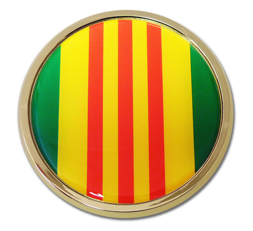 Vietnam Chrome Auto Emblem