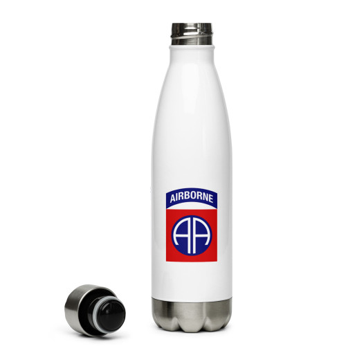 82nd Airborne Patch Stainless Steel Water Bottle