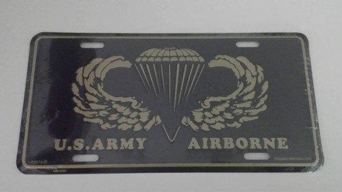 U.S. Army Airborne License Plate