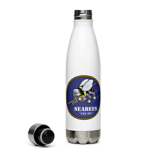 Seabees Stainless Steel Water Bottle