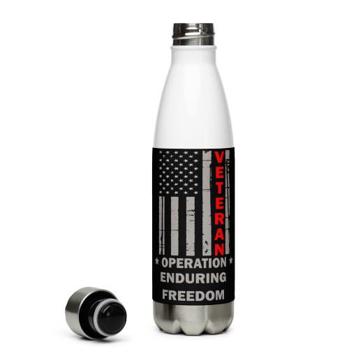 Operation Enduring Freedom (Veteran) Stainless Steel Water Bottle