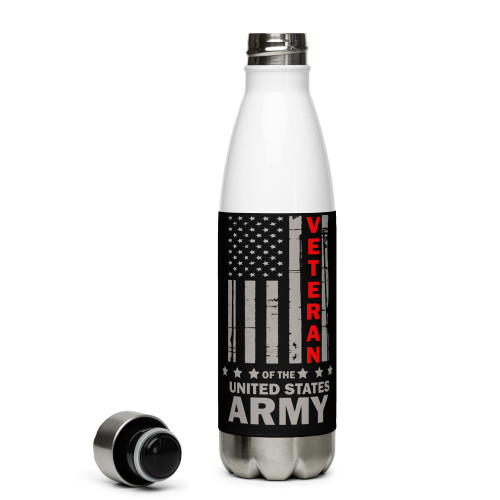 Veteran of the United States Army Stainless Steel Water Bottle