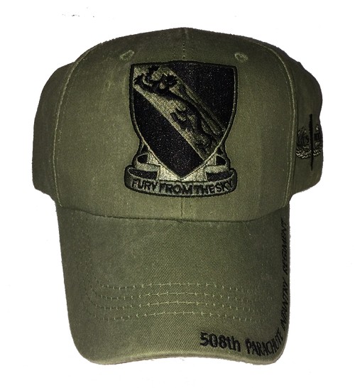 US Army 508th Parachute Infantry Regiment (PIR) Baseball Cap