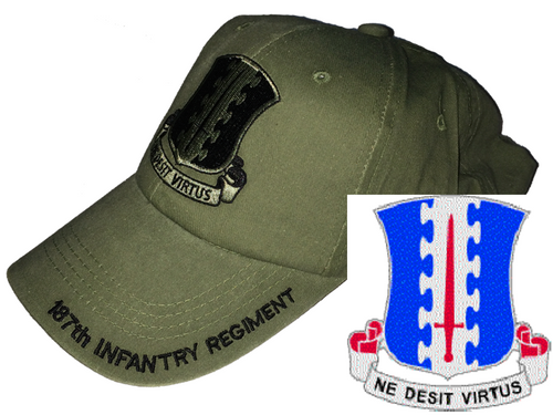 US Army 187th Infantry Regiment (PIR) (Rakkasans) Baseball Cap