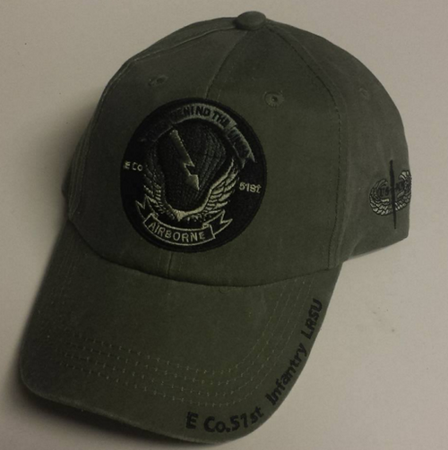 US Army E CO 51st Infantry LRSU Baseball Cap