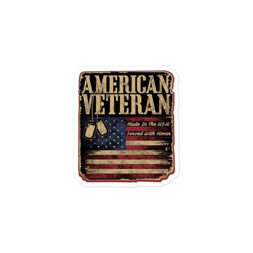 American Veteran Bubble-free sticker