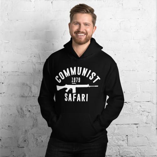 Communist Safari (White) Unisex Hoodie