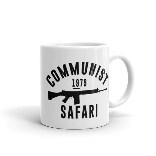 Communist Safari White glossy mug