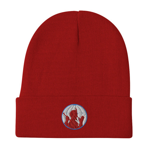 504th Airborne Infantry Regiment Patch Embroidered Beanie