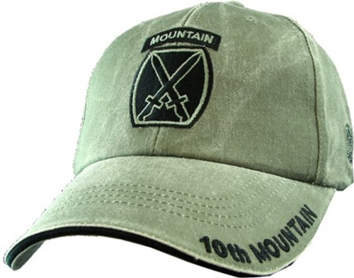 10TH MOUNTAIN DIVISION (OD GREEN) Baseball Cap