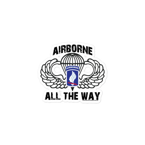 173rd Airborne All the Way Bubble-free stickers