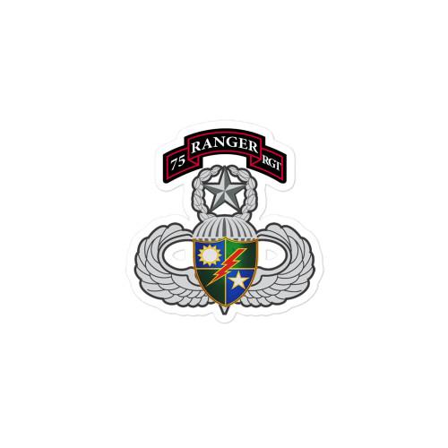 75th Ranger Regiment Bubble-free stickers
