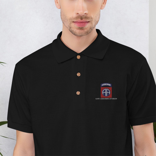 82nd Airborne Division Embroidered Polo Shirt