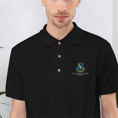 504 Parachute Infantry Regiment Embroidered Polo Shirt
