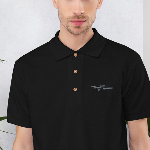 A-10 Embroidered Polo Shirt