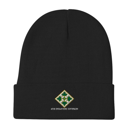 4th Infantry Division Embroidered Beanie