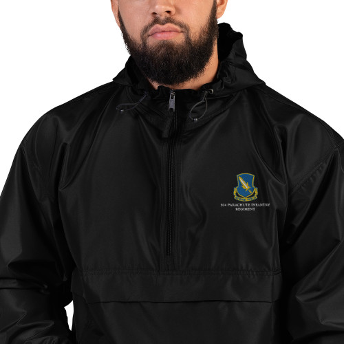 504 PIR Embroidered Champion Packable Jacket