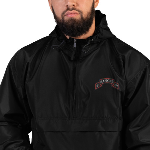 2d Ranger Bn Embroidered Champion Packable Jacket