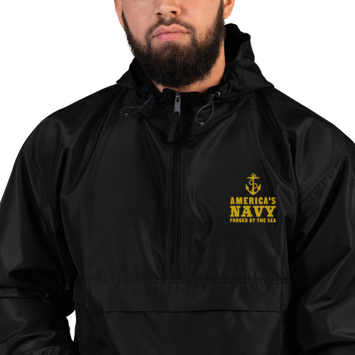 America's Navy Embroidered Champion Packable Jacket