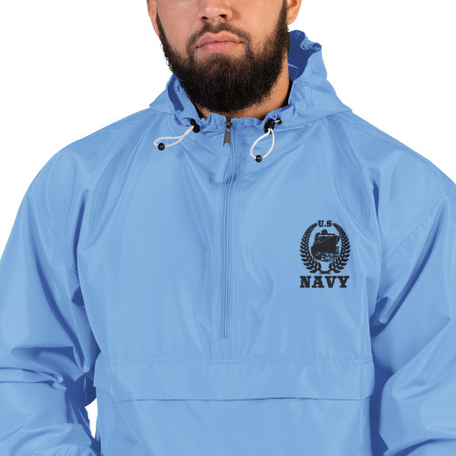 US Navy (Boat) Embroidered Champion Packable Jacket