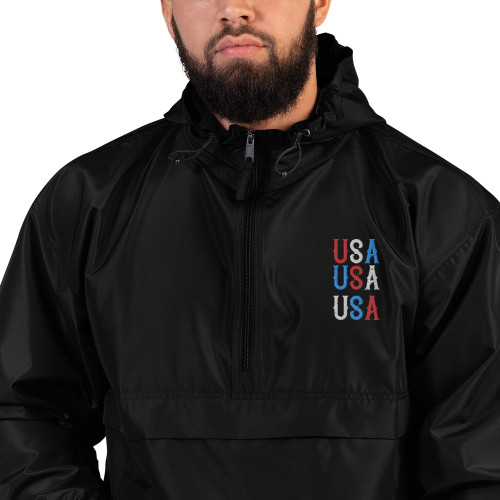 USA Embroidered Champion Packable Jacket