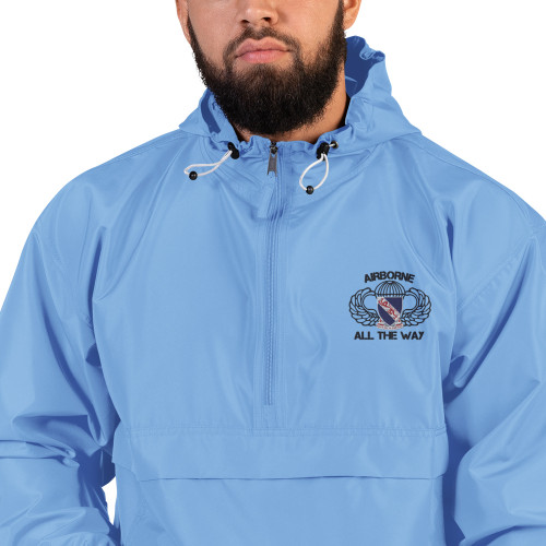 508 Airborne All the Way Embroidered Champion Packable Jacket