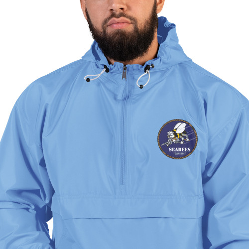 Navy Seabees Embroidered Champion Packable Jacket