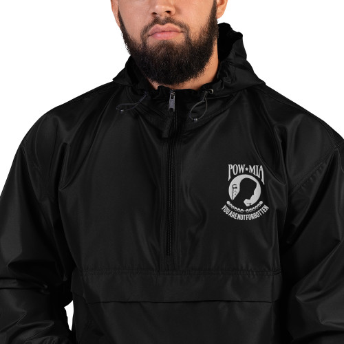 POW MIA Embroidered Champion Packable Jacket