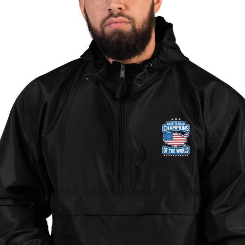 Back to Back Champions Embroidered Champion Packable Jacket