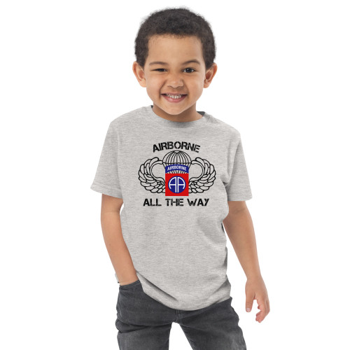 Airborne All the Way Toddler jersey t-shirt
