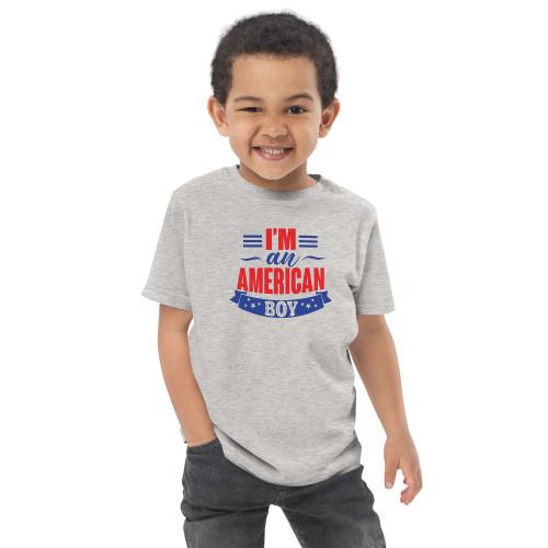 I'm an American Boy Toddler jersey t-shirt