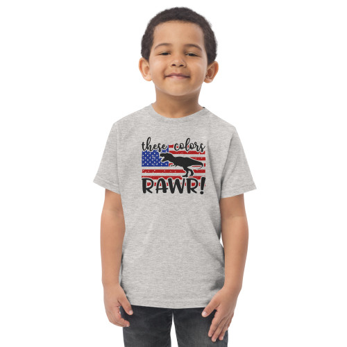 These Colors Rawr Toddler jersey t-shirt