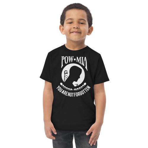 POW MIA Toddler jersey t-shirt