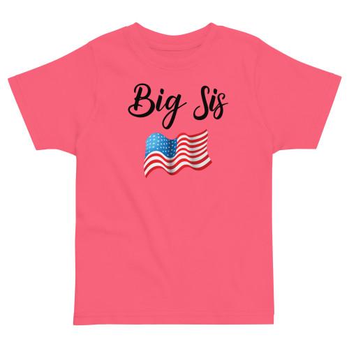 Big Sis (USA) Toddler jersey t-shirt