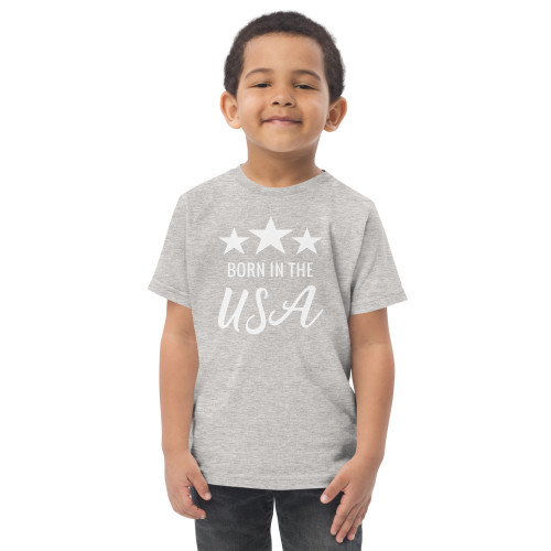 Born in the USA Toddler jersey t-shirt
