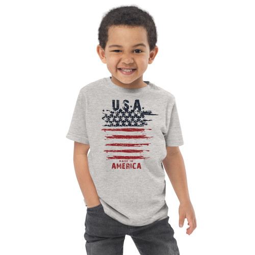 USA Made in America Toddler jersey t-shirt
