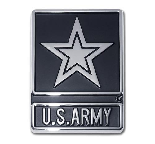 Army Chrome Auto Emblem