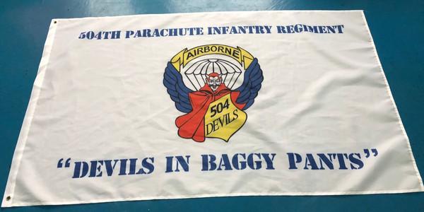 504th PIR Devils Banner (Read description)